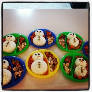 chicas snowman