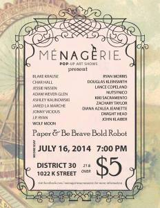 Kiki Art Show 7.16.2014 Menagerie