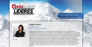 CoorsLight Lideres Angela Rosas